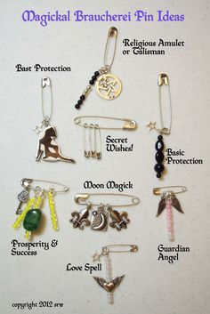 modern witch Interesting and powerful charms were (and still are) made out of almost anything. Whether we discuss banishing or attracting the wonderful little invention of the safety pin fits right int Wiccan Crafts, Wiccan Decor, Baby Witch, Sea Witch, Magick Spells, Voodoo Spells, Green Witchcraft, Wicca Witchcraft, Eclectic Witch