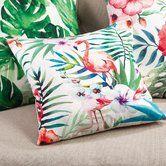 Found it at Wayfair - Tropical Flamingo Indoor/Outdoor Throw Pillow