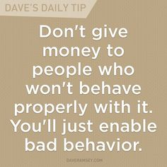 Dave's Daily Tip – Finance tips, saving money, budgeting planner Financial Guru, Financial Quotes, Financial Peace, Frases De Dave Ramsey, Dave Ramsey Quotes, Money Quotes, Life Quotes, Quotes Quotes, Drake Quotes