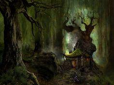 bosque mágico fondo de pantalla - ForWallpaper.com