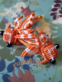 Yuyu Style _ Macramé y más: Horquillas carpa Koi de macramé