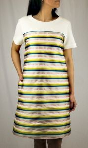 #odeeh #kleid #streifen #zeitgeist_amberg Short Sleeve Dresses, Dresses With Sleeves, Tops, Women, Fashion, Stripes, Gowns, Moda, Sleeve Dresses