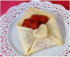 Dolci alla ciliegia: buste d'amore col cuore di frutta!