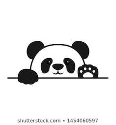 Cute panda paws up over wall, panda face cartoon icon, vector illustration Cute Panda Drawing, Cute Panda Cartoon, Drawing For Kids, Image Panda, Image Svg, Kids Planner, Cute Panda Wallpaper, Panda Party, Panda Wallpapers