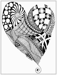 free heart pictures to color for adult