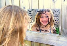 Outdoors Emotions Mirrors  Perfect for children to learn about their emotions £20 with free UK delivery #EYFS #Understandemotions #teacher #resources