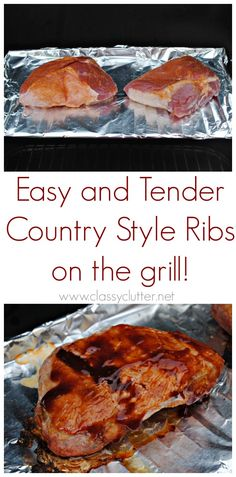 How to grill the perfect Country Style Ribs - www.classyclutter.net