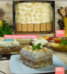 Bananowa Krówka - Bez Pieczenia! Vanilla Cake, Cheese, Food, Projects, Log Projects, Blue Prints, Eten, Meals, Diet