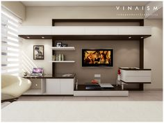 Wall Units, Tv Cabinets, Flat Screen, The Unit, Interior Design, Entertainment, Blood Plasma, Nest Design, Home Interior Design