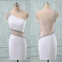Charming Prom Dress,One Shoulder Prom Dresses,Short Prom Dresses,Evening