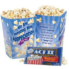 Bursting With Appreciation Popcorn Snack Pack