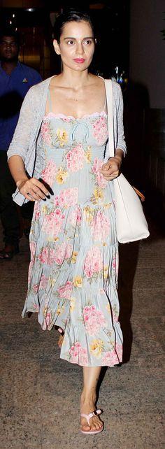 Kangana Ranaut returning from the #IIFA Awards. #Style #Bollywood #Fashion #Beauty