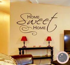 Wall DecalDecals for the Home  Home Sweet by FourPeasinaPodVinyl, $20.00