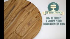 In this free video tutorial I show you a quick and easy way to decorate a cake board to look like wooden flooring / floor board effect.You could use fondant,. Fondant Tips, Fondant Tutorial, Fondant Cakes, Cupcake Cakes, Disney Cupcakes, Fondant Icing, Cake Decorating Techniques, Cake Decorating Tutorials, Cookie Decorating