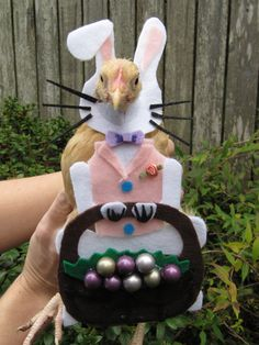 Easter Bunny Chicken costume by MuchAdoAboutCluckin on Etsy, $10.00