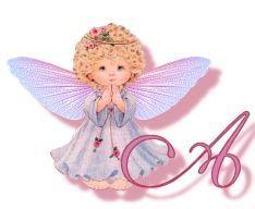 Alfabeto de angelito orando.