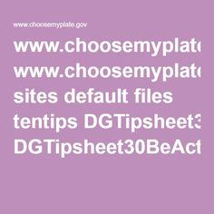 www.choosemyplate.gov sites default files tentips DGTipsheet30BeActiveAdults.pdf