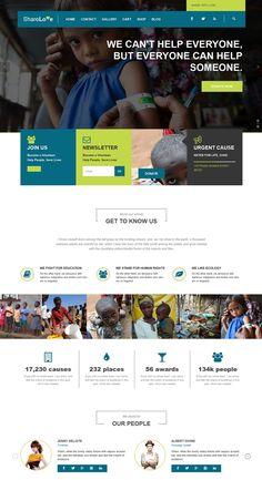 Charity WordPress Themes #design