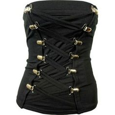 Poizen Industries Shred Vest Ladies Black Goth Emo Punk in Clothing, Shoes & Accessories, Women's Clothing, Tops Gothic Boots, Gothic Corset, Black Corset, Gothic Lolita, Dark Fashion, Gothic Fashion, Steampunk Fashion, Emo Fashion, Trade Clothes