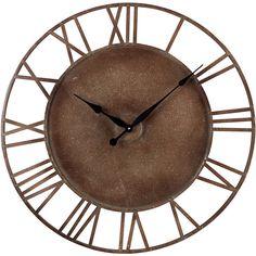 Bronze Roman Numeral Wall Clock.