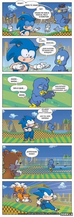Sonic corre demasiado