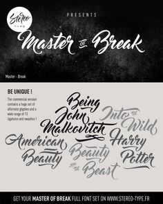 Master Of Break | dafont.com                                                                                                                                                                                 Mais