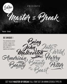 Master Of Break | dafont.com