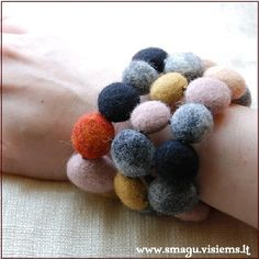 wet felted bracelet | by :magic: