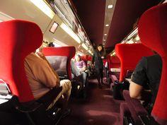 Interior of the TGV Amsterdam-Paris highspeed train
