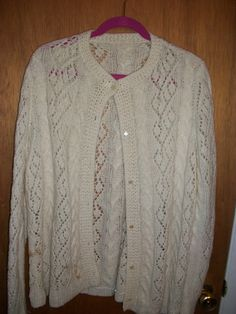 White knitted sweater in GrandmasClutter's Garage Sale in Colorado Springs , CO for $4.00.