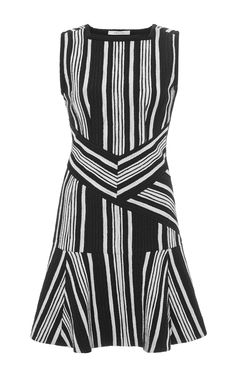 Striped Cut-Out Tweed Dress by Carven - Moda Operandi