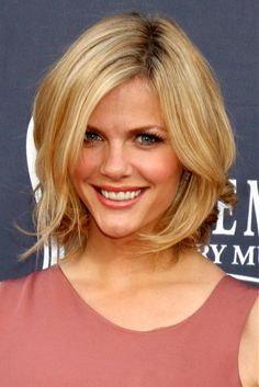 Large image of medium blonde straight hairstyles provided by Celebrity Hairstyles