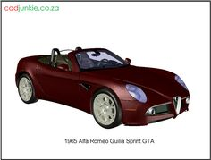 3D Vehicle: Alfa Romeo - Guilia Sprint GTA AD Format: AutoCAD 2013 Block Type: 3D Mesh Units: mm Autocad, 3d Mesh, 3d Cad Models, Cad Blocks, Alfa Romeo, Gta, Muscle Cars, Type, Vehicles
