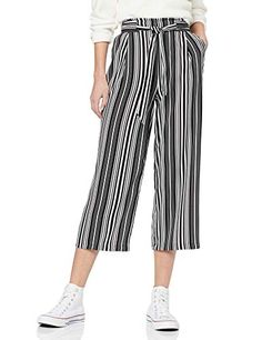 New Look Women's Winnie Stripe Emerald Trousers New Look Women, Black B, Black Pattern, Trousers, Pants, Cool Girl, Emerald, Amazon, Stuff To Buy