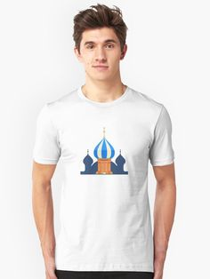 'Cute St Basil's Cathedral Moscow Russia Travel Landmark' T-Shirt by passionemporium St Basils Cathedral, St Basil's, Moscow Russia, Female Models, Chiffon Tops, V Neck T Shirt, Classic T Shirts, Menswear, Tees