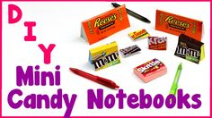 DIY Crafts: 7 Easy DIY Miniature Candy Notebooks  - Cool & Unique Craft ...