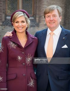 King Willem-Alexander and Queen Maxima of The Netherlands together during the visit of the Argentinean President to prime minister Mark Rutte at The Binnenhof on March 28, 2017 in The Hague, The Netherlands. The President of Argentina is in the Netherlands for a two-day official state visit. (Photo by Patrick van Katwijk/Getty Images)