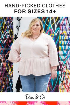 Shop the newest plus-size tops and blouses.