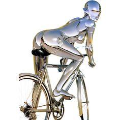 Sexy robot on vintage bike or sexy road bike ridden by vintage robot? Dark Fantasy Art, Nono Le Petit Robot, Cyberpunk Girl, Arte Robot, Robot Concept Art, Futuristic Art, Science Fiction Art, Cycling Art, Bike Art