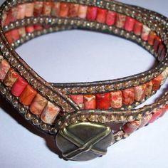 very pretty pretty: Triple Row Leather Bracelet | JewelryLessons.com