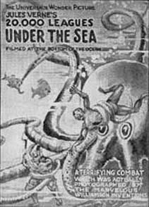 Leagues Under The Sea silent film poster Kirk Douglas, Action Film, Action Movies, Jules Verne Books, Leagues Under The Sea, In And Out Movie, Silent Film, Silent Night, Sea Monsters