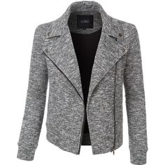 Stay cozy and stylish in this fleece marble zip up moto biker jacket with pockets. Looks great with jeans or over dresses. Perfect for chilly days