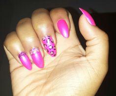 Pink Stilleto Nails ( Stilleto Stilletto Stiletto ) + Cheetah & Ombre Glitter