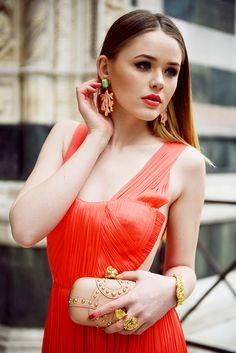 KAYTURE  LUISA VIA ROMA   STYLE LAB CORAL LOOK Kristina Bazan 83aeb40a0ac75