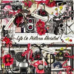 A photography themed scrapbook collection designed to coordinate with the kits Life In Pictures and Life In Pictures Revisited from Raspberry Road.