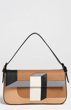 Fendi '3D' Leather Baguette