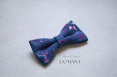 Стильный Джинсовый галстук-бабочка №2