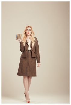 Francis Fall 2012 - Casey stretch tweed blazer and Colleen belted skirt
