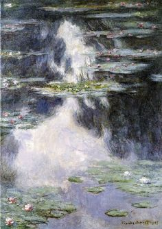 Canvas printed Classical Monet style picture Water Lilies to sale as canvas wall painting with best Price for home decor