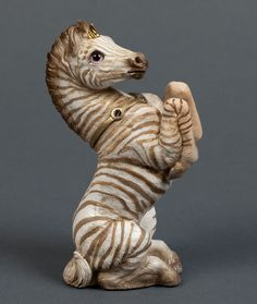 "WINDSTONE EDITIONS ""GOLDEN ZEBRA #1"" UNICORN COLT FIGURINE, TEST PAINT STATUE #ebay #unicorn #collectables"